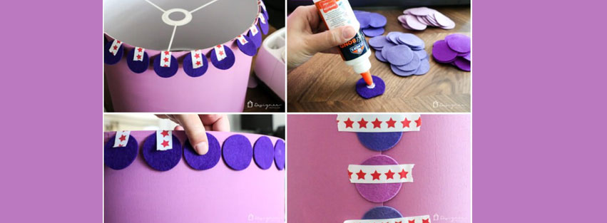 DIY Lampshade – Ombre Style!