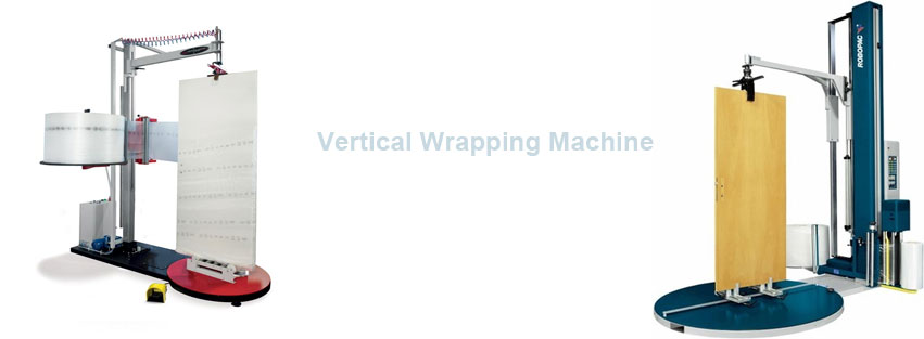 Vertical wrapping machine